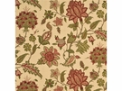 SAMPLE G P & J Baker BAKER'S INDIENNE JACOBEAN FABRIC RED GREEN