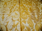 SAMPLE SILK LOOM INC MARSEILLE SILK DAMASK FABRIC INCA GOLD ON VANILLA CREAM