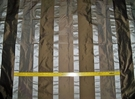 SAMPLE KOPLAVITCH BEAUVILLE SILK SATIN TAFFETA STRIPES FABRIC BROWN CREAM MOCHA
