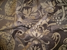 SAMPLE KRAVET COUTURE BELGIUM CHENILLE DAMASK FABRIC BROWN BEIGE