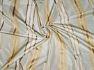 SAMPLE KRAVET COUTURE LEE JOFA MADEMOISELLE STRIPES SILK TAFFETA FABRIC SEAMIST