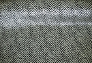 SAMPLE KRAVET DIANE VON FURSTENBERG HERRINGBONE VELVET FABRIC BLACK WHITE