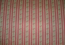 SAMPLE KRAVET LAURA ASHLEY FRENCH COUNTRY CHIMNEY ROCK FLORAL STRIPE PRINT FABRIC 28 YARD POPPY