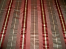 SAMPLE KRAVET LEE JOFA SEDONA SILK SATIN STRIPES FABRIC 10 YARDS CINNAMON CLAY GOLD