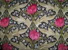 SAMPLE LEE JOFA KRAVET WILLIAM MORRIS INSPIRED ART NOUVEAU LINEN FABRIC 10 YARDS