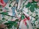 SAMPLE LEE JOFA SHABBY ROSES & RIBBONS COTTON CHINTZ FABRIC 10 YARDS BLUE WHITE MULTI