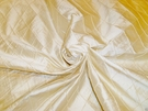 SAMPLE LK LOOM INC EDINA EMBROIDERED DIAMONDS HARLEQUIN SILK FABRIC CREAMISH IVORY BOLT