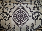SAMPLE NEOCLASSICAL NAPLES URNS HANDPRINTED SILK TOILE FABRIC BLACK FLAXEN