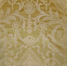 SAMPLE NEOCLASSICAL NAPLES URNS HANDPRINTED SILK TOILE FABRIC GOLD OPAL