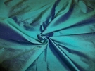 SAMPLE PASARI PREMIUM SILK DUPIONI FABRIC TURQUOISE BLUE