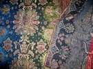 SAMPLE PIERRE FREY BOLCHOI BROCADE FABRIC JEWEL RUBY SAPPHIRE EMERALD GOLD