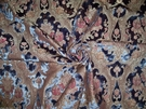 SAMPLE PIERRE FREY FADINI BORGHI BACH CUT VELVET MEDALLIONS DAMASK FABRIC SAPPHIRE BLUE