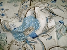 SAMPLE SCALAMADRE PONDICHERRY LINEN PRINT FABRIC DELFT
