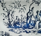SAMPLE SCALAMADRE SUMMER PALACE FABRIC PORCELAIN