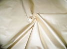 SAMPLE SCALAMANDRE ACADEMY SILK SATIN COTTON FABRIC IVORY BOLT