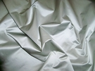 SAMPLE SCALAMANDRE ACADEMY SILK SATIN COTTON FABRIC MIST BLUE 30 YARD BOLT