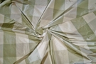 SAMPLE SCALAMANDRE BARANZELLI LILIANA SILK TAFFETA CHECK FABRIC 20 YARD BOLT WILLOW GREEN