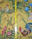 SAMPLE SCALAMANDRE CHANTICLEER ROOSTER FABRIC MULTI