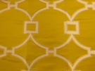 SAMPLE SCALAMANDRE CIRCLE FRET JACQUARD FABRIC FORSYTHIA
