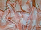 SAMPLE SCALAMANDRE CORNWALL PLAID SILK TAFFETA FABRIC PINK WHITE