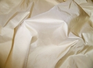 SAMPLE SCALAMANDRE SOTTO VOCE SILK TAFFETA FABRIC CREAM