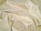 SAMPLE SCALAMANDRE SOTTO VOCE SILK TAFFETA FABRIC FRENCH VANILLA