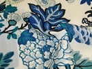 SAMPLE SCHUMACHER CHINOISERIE CHIANG MAI DRAGON FABRIC CHINA BLUE