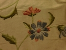 SAMPLE SCHUMACHER COLETTE EMBROIDERED FLORAL FABRIC ROSE