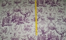 SAMPLE SCHUMACHER LE COURONNEMENT DE LA ROSIERE FRENCH TOILE FABRIC VIOLET