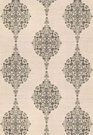 SAMPLE SCHUMACHER MEHNDI LINEN PRINT FABRIC  SMOKE MULTI