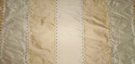 SAMPLE SILK LOOM ADELINA EMBROIDERED SILK STRIPES FABRIC FRENCH VANILLA GOLD
