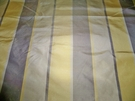 SAMPLE SILK LOOM AVANGARD STRIPE SILK TAFFETA FABRIC TAUPE GOLD CREAM