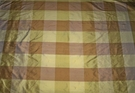 SAMPLE SILK LOOM CARLTON IRIDESCENT SILK CHECK FABRIC 30 YARD BOLT GOLD BRONZE BROWN