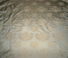 SAMPLE SILK LOOM CORSICA IRIDESCENT NEOCLASSICAL SILK JACQUARD FABRIC 33 YARDS BOLT GOLD