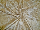 SAMPLE SILK LOOM FORTUNY STYLE VENETIAN PRINTED SILK FABRIC 30 YARD BOLT CREAM GOLD