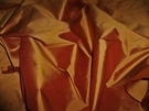 SAMPLE SILK LOOM IMPERIAL SILK TAFFETA FABRIC TERRA COTTA CLAY BOLT