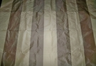 SAMPLE SILK LOOM LAUDERHILL STRIPE SILK TAFFETA FABRIC TAUPE CREAM