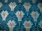 SAMPLE SILK LOOM OPULENCE CUT VELVET DAMASK FABRIC 10 YARDS