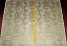 SAMPLE STROHEIM NEOCLASSICAL EMPIRE ACANTHUS TASSELS STRIE SILK DAMASK FABRIC CHIFFON OPAL