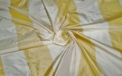 SAMPLE STROHEIM & ROMANN BONITA STRIPES SILK TAFFETA FABRIC GOLD CREAM