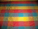 SAMPLE STROHEIM & ROMANN IRIDESCENT CARIBE 2 PLY SILK DUPIONI CHECK FABRIC 19 YARDS
