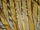 SAMPLE STROHEIM & ROMANN MELROSE SILK SATIN STRIPE FABRIC BRONZE