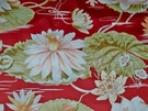 SAMPLE STROHEIM TROPICAL LILY POND FABRIC 24 YARD REMNANT BURGUNDY OYSTER PINK SAGE MULTI