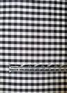 SAMPLE TAPESTRIA FRENCH COUNTRY GINGHAM CHECK SILK FABRIC BLACK WHITE