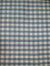 SAMPLE TAPESTRIA FRENCH COUNTRY GINGHAM CHECK SILK FABRIC CHAMBRAY BLUE