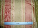 "SAMPLE TAPESTRIA ""MONTEL"" STRIPES SILK FABRIC KIWI / MELON BOLT"