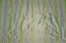 "SAMPLE TAPESTRIA ""MONTEL"" STRIPES SILK FABRIC SPA BLUE MINT CREAM"