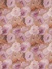 SAMPLE VERVAIN MIDSUMMER FLORAL PRINT LINEN FABRIC ORCHID