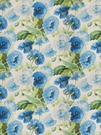 SAMPLE VERVAIN MIDSUMMER FLORAL PRINT LINEN FABRIC POOLSIDE