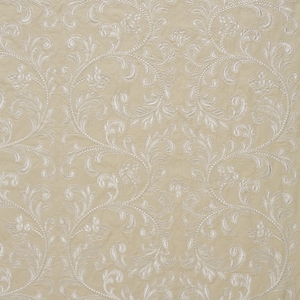 SCALAMADRE CHIARA EMBROIDERY SCROLLWORKS FABRIC PEARL GREY